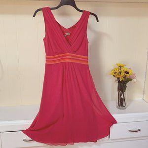 Boden Woman Silk Taffeta Pink Dress Size US 6L